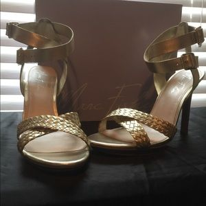 Beautiful gold Marc Fisher sandals